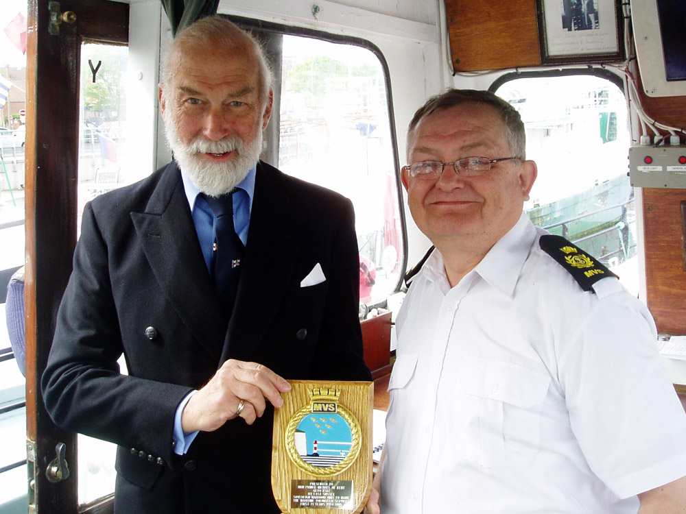 Prince Michael of Kent with David Hughes